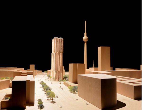 Самый высокий жилой дом в Берлине: проект от Фрэнка Гери. Источник фото: Gehry Partner, LLP