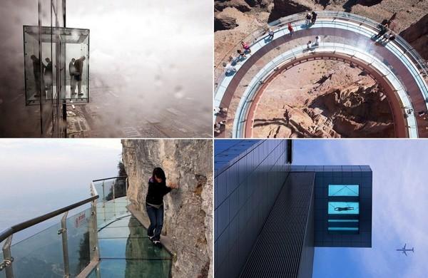 Самые красивые в мире сооружения со стеклянным полом