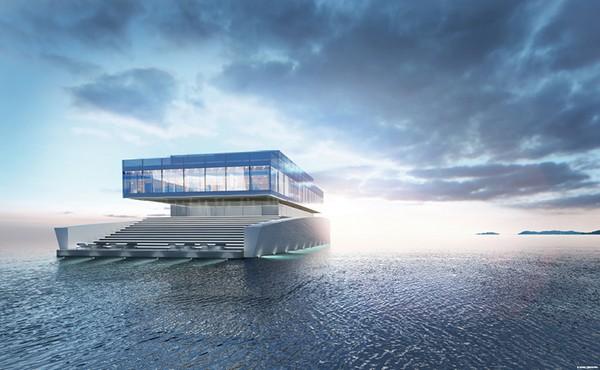 Квадратная яхта-особняк Glass