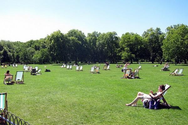 Парк Green Park в центральной части Лондона