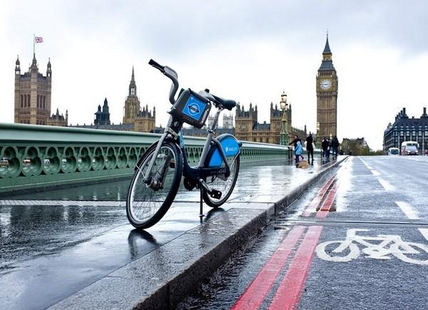В Лондоне существует городская сеть общественных велосипедов