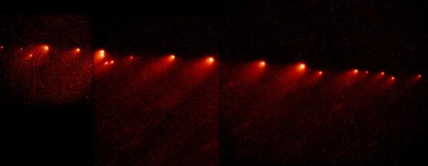 Распавшаяся комета Шумейкеров-Леви 9