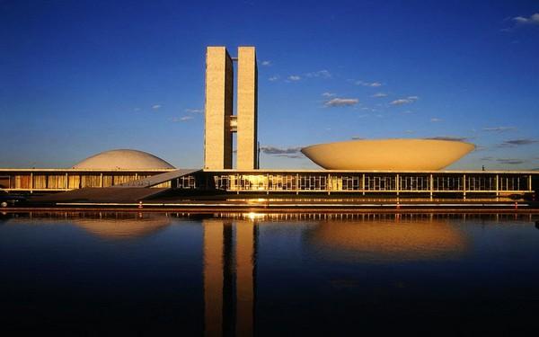 Национальный Конгресс. Бразилиа. Оскар Нимейер
