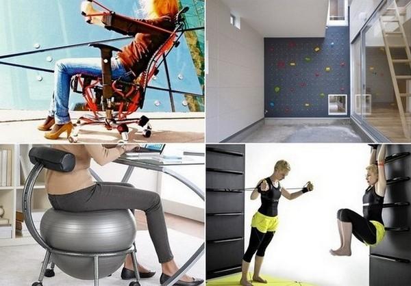 Необычные домашние и офисные приспособления для спорта
