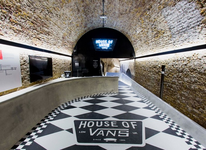House of Vans London – бесплатный спортивно-культурный центр на станции Лондонского метрополитена