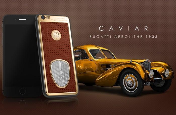 Motore Bugatti Aerolithe 1935 – смартфон iPhone 6 в стиле легендарных автомобилей Bugatti