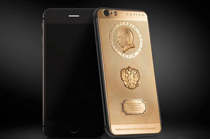 Caviar Supremo Putin II – ювелирный iPhone 6 с изображением Путина