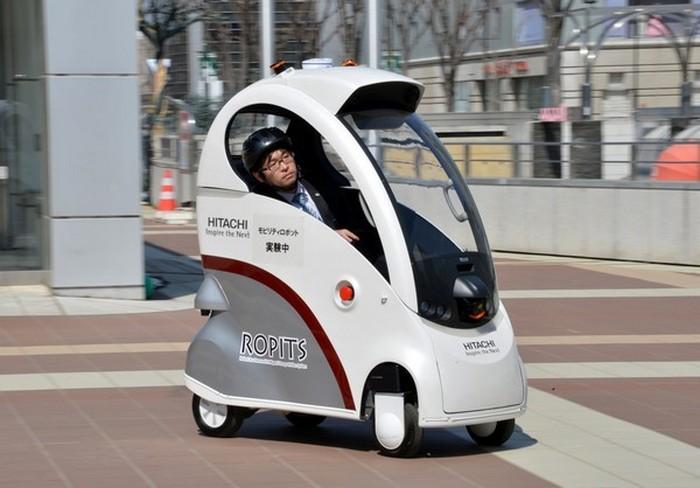 Автомобиль Hitachi Ropits под управлением смартфона