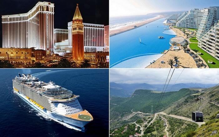 Самые большие в мире объекты туристической инфраструктуры