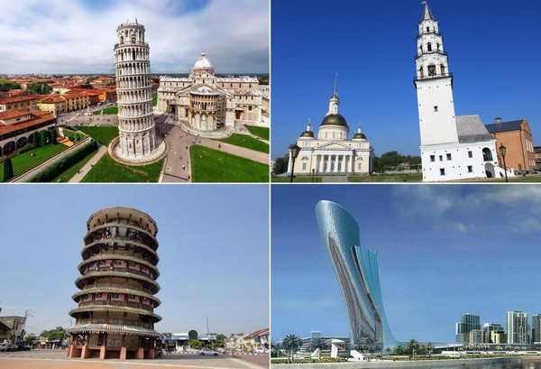 Падающие башни со всего мира