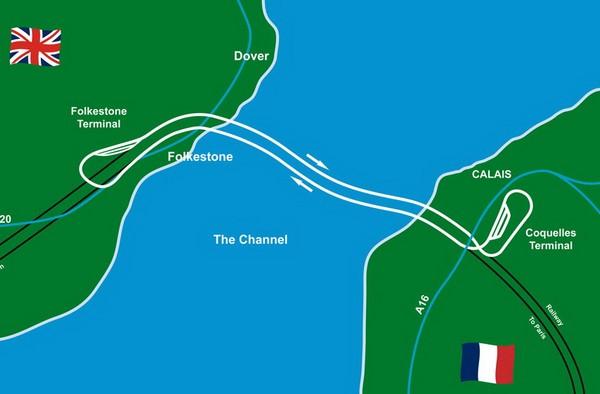 План-схема Евротоннеля.