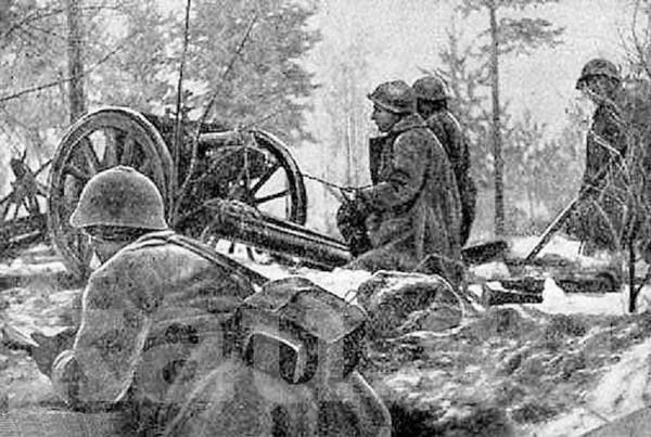 Советские воины на передовой во время Зимней войны. Источник фото: kau.su