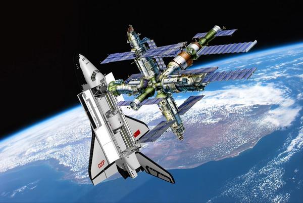 Станция Мир и космический челнок Буран. Источник фото: buran.ru