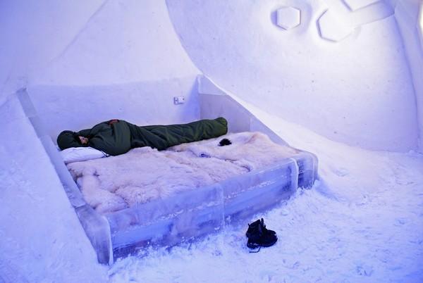 Снежный замок в Финляндии