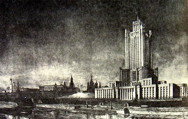 Проект сталинской высотки в Зарядье. Источник фото: greedyspeedy.livejournal.com