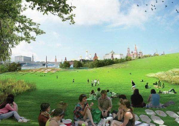 Проект парка в Зарядье. Источник фото: inmsk.ru