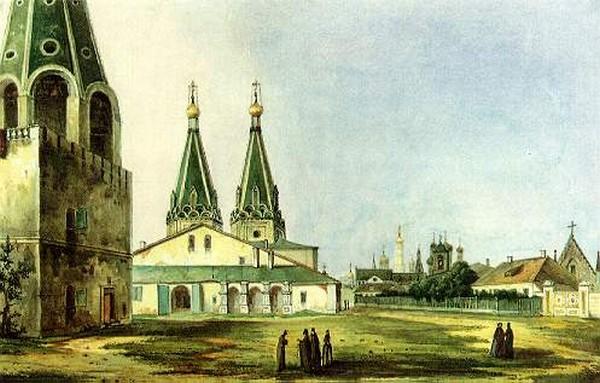 Алексеевский монастырь, картина. Источник фото: Википедия