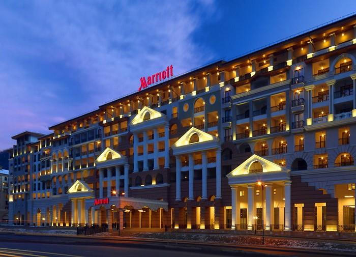 Marriott – эклектичный отель в Красной Поляне в Сочи