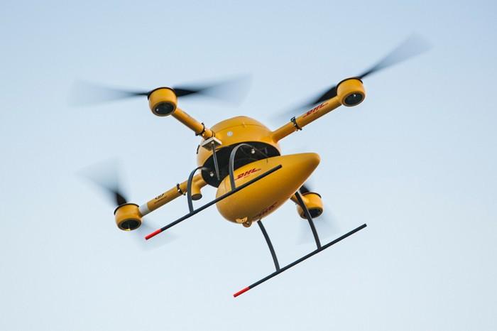 Почтовый беспилотник Parcelcopter 2.0 от DHL
