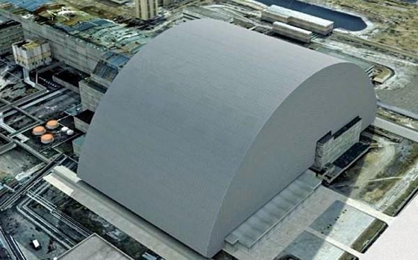 Новый объект Укрытие на Чернобыльской АЭС