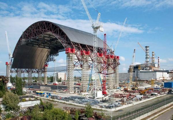 Строительство нового объекта Укрытие на Чернобыльской АЭС