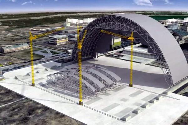 Подъем верхней части половины арки