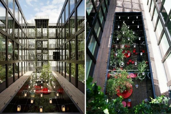 Отель CitizenM в Лондоне, построенный из грузовых контейнеров