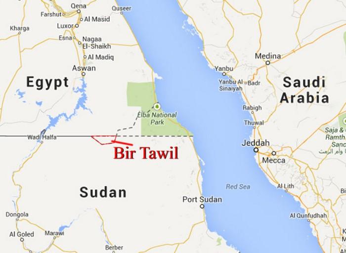 Карта Бир-Тавиля