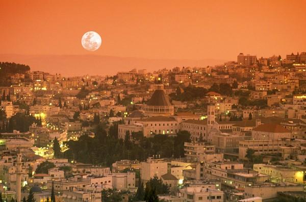 Панорама города Назарет
