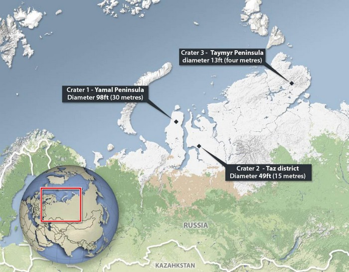Таинственные кратеры на Ямале
