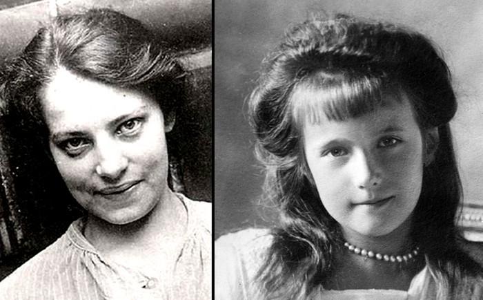 Анна Андерсон и княжна Анастасия