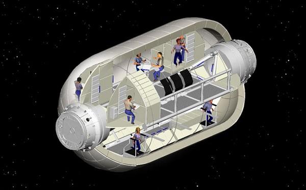 Примерное устройство жилого модуля от Bigelow Aerospace