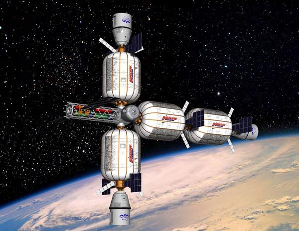 Примерный внешний вид космического отеля от Bigelow Aerospace