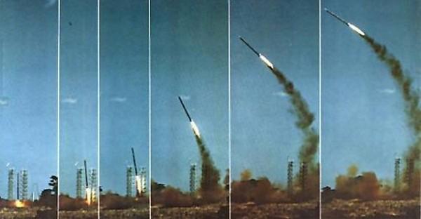 Старт ракеты OTRAG