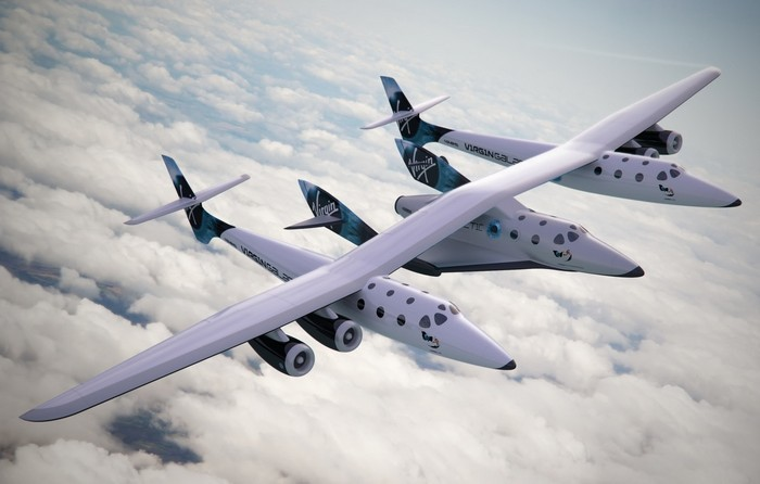 Самолет-носитель WhiteKnightTwo от компании Virgin Galactic