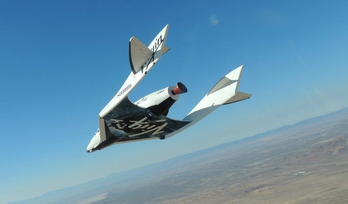 Космический челнок SpaceShipTwo от компании Virgin Galactic