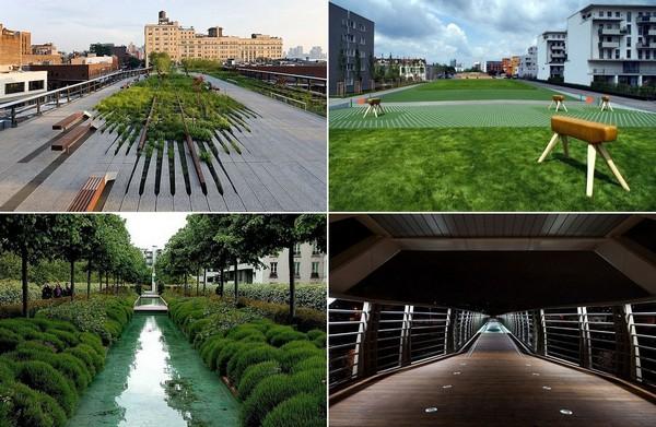 Современные парки на месте старых железных дорог