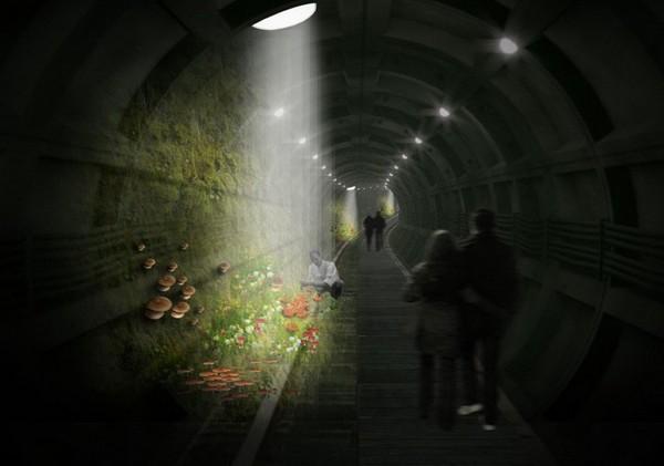 Парк в заброшенном метро в Лондоне. Источник фото: cutedecision.com