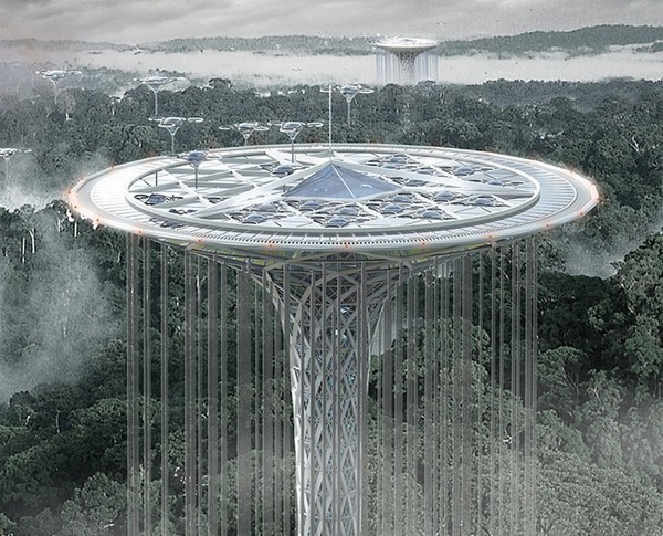 Rainforest Quardian Skyscraper – небоскреб для защиты дождевых лесов. Источник фото: eVolo