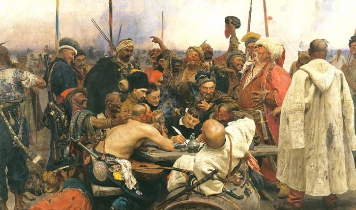 Запорожцы пишут письмо турецкому султану, картина Ильи Репина