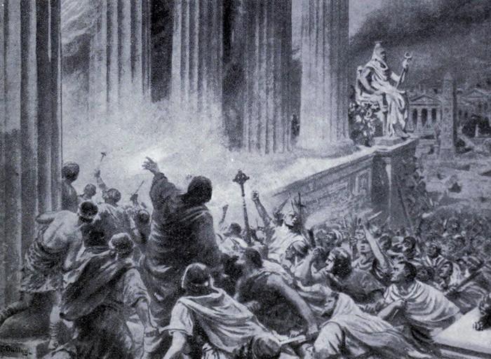 Разрушение Александрийской библиотеки