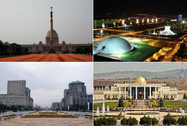 Столицы государств, построенные на новом месте