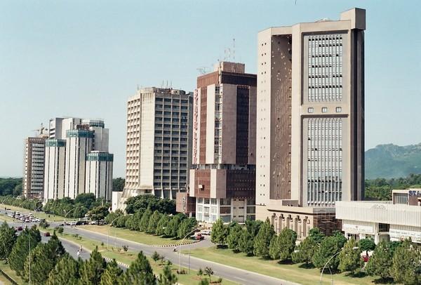 Деловой квартал Синяя зона в Исламабаде. Источник фото: pakistantreksandtours.blogspot.com