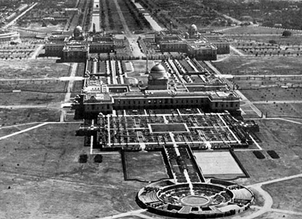 Правительственный квартал в Нью-Дели в довоенную эпоху. Источник фото: asiasociety.org