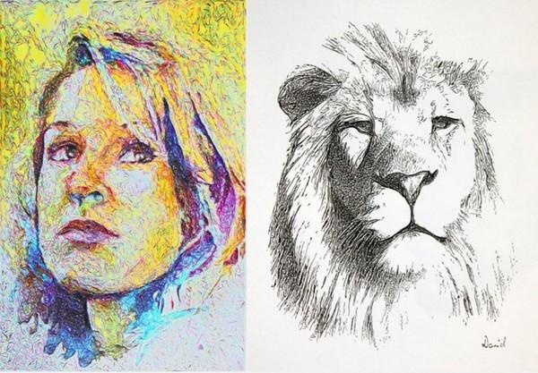 eDavid – робот-портретист. Источник фото: www.ph2dot1.com