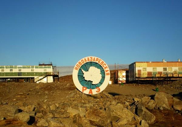 Новолазаревская – полярная станция с баней. Источник фото: panoramio.com