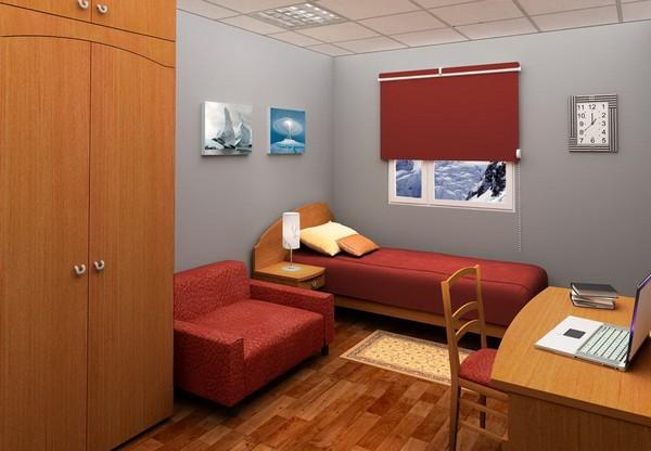 Жилая комната на российской полярной станции Прогресс. Источник фото: officelinespb.ru