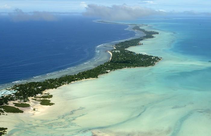 Вид на Кирибати с высоты птичьего полета
