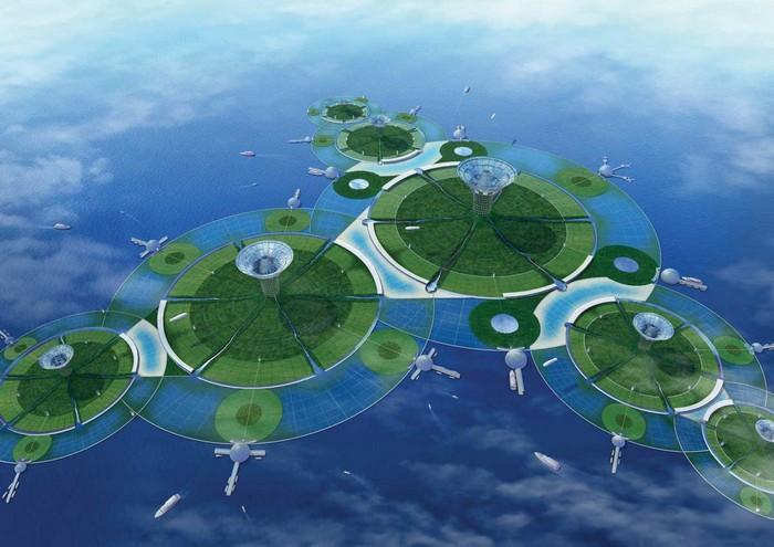 Проект искусственного архипелага Кирибати от японской компании Shimizu Corporation