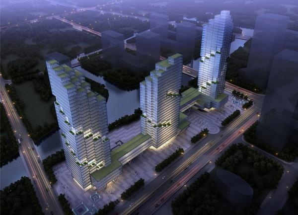 Пиксельные небоскребы в китайском Шаосине. Источник фото: Liu Xiang